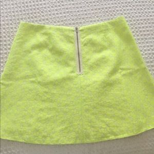 A line skirt - zipper in back
